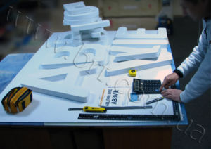 3D lettering manufactured