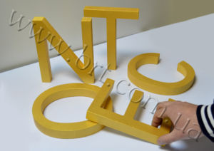 Colourful Deco Letters 3D letter