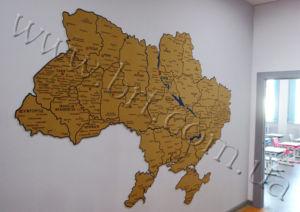 географическая карта на заказ