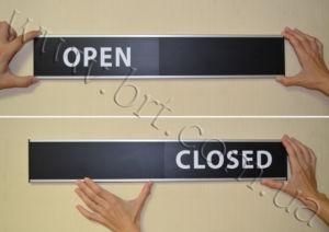 Open Closed Sliding Door Sign