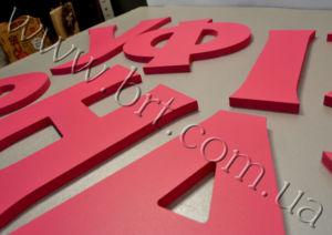 об'ємні букви на стіни перукарні