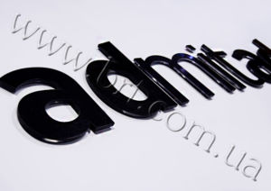 логотип объемные буквы