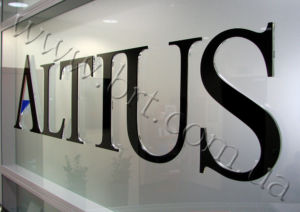 Built up 3D acrylic lettering
