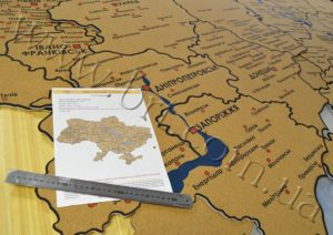 изготовление географических карт на заказ