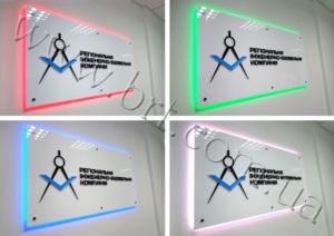 вивіски з підсвічуванням світлодіодами