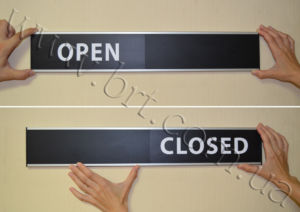 Open Closed Sliding Door Sign