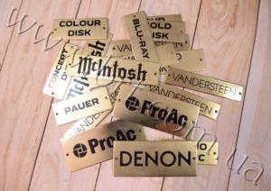 Fine Brass Plaques