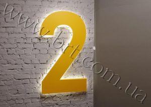 буквы с подсветкой на стену